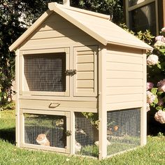 Eco-friendly Rabbit House – it's a spacious townhouse for rabbits.
