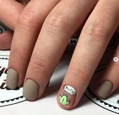 Ногтеманияк | Маникюр, ногти, идеи дизайна Mint Nails, Aycrlic Nails, Pastel Nails, Yellow Nails, Nude Nails, Cute Nail Art, Gel Nail Art, Watermelon Nails, Happy Nails