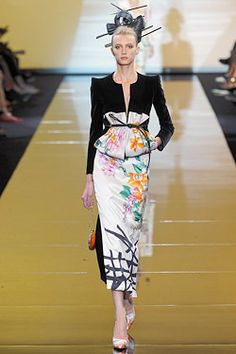 A Japanese-inspired look from the Armani Privé Haute Couture Fall 2011 show