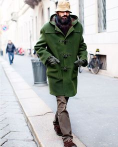 I love the fog of Milan, it gives the whole city a soft bright haze. I shot thievery quickly a few years ago, I think I was still on my bike! I'd usually only want a coat like that in navy but that loden green is a pretty perfect option.