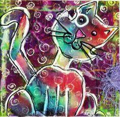Fat Cat Art Studio / A way to paint cats