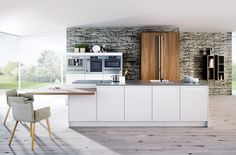 home,HMKitchenGoals-Fabulous kitchen from Rotpunkt Kitchens - High gloss fronts with reflective surfaces and dramatic colour combinations turn your ki Luxury Life, Luxury Living, Kitchen Island, Kitchen Cabinets, Interior Styling, Interior Design, German Kitchen, Marble Effect, Minimalist Kitchen