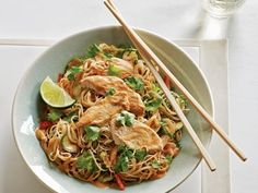 Get Chilled Peanut Chicken Noodle Salad Recipe from Food Network