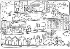 Dibujos de Ciudades para colorear y pintar. Imprimir <i>правило</i> dibujos de...