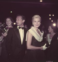 Grace Kelly and Oleg Cassini at the première of Rear Window, August 1954