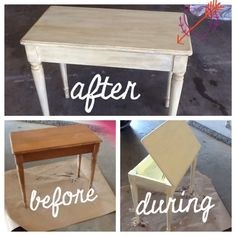 Refinished piano bench to side table. Homemade chalk paint and Annie Sloan wax.