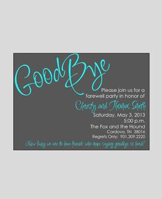 Perfect Farewell / Bon Voyage / Going Away Invitation By Wackykracker