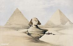 Egypte The Great Sphinx Pyramids of Gizeh (Giza) 1848 Pyramids Of Gizeh, Graffiti, Valley Of The Kings, Royal Academy Of Arts, Giza, A4 Poster, Poster Prints, Stonehenge, New York Public Library