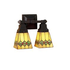 5 Inch W Martini Mission Wall Sconce