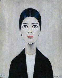 Ann 1959... (Oil on panel)... one his most famous portraits, there are varying theories to whom the subject is......L. S. LOWRY.... LAURENCE STEPHEN LOWRY... 11/1/1887--2/23/1976