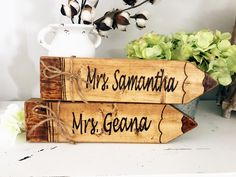 Items similar to Custom Wood-Burned Pencil Name Sign on Etsy - Altitude 807 Custom Creations Diy Wooden Projects, Wood Projects That Sell, Crafts To Make And Sell, Wooden Crafts, Wooden Diy, Wooden Signs, Diy Crafts, Easy Small Wood Projects, Scrap Wood Crafts