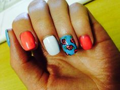 nail art, rosas <3