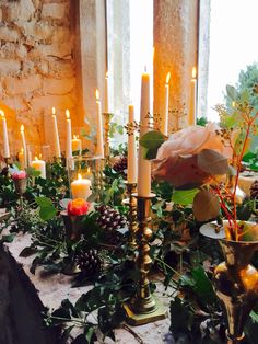 Candles and romance in the Gatehouse Ceremony Room
