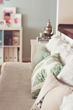 Tina Fussell's (Traveling Mama) cozy Danish apartment, featured on decor8 :) Can I come over please?