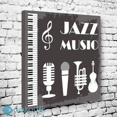 Müzik Jazz Tablo #tipografi_tablo #tipografik_tablo #tipografi_kanvas_tablolar