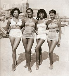 Black bathing beauties (from early 1950s), or Colored or Negro, as we were called back then. Biddy Craft