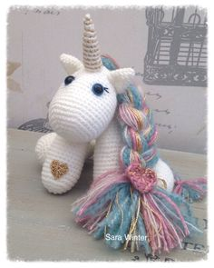 A personal favourite from my Etsy shop https://www.etsy.com/uk/listing/512118299/amigurumi-crochet-unicorn-with-heart
