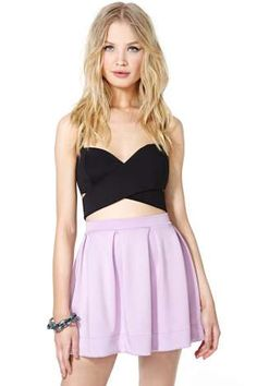 Scuba Skater Skirt - Lilac. Sale $15