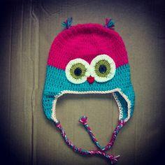 Crochet owl hat Crochet Owl Hat, Beanie, Beanies, Beret