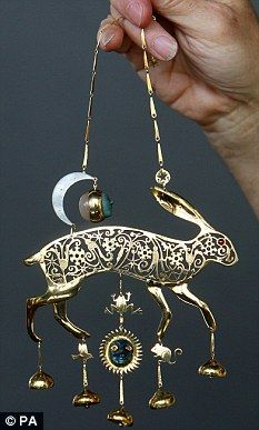 Famous Hare treasure from 'Masquerade' by Kit Williams.  A beautiful piece and an interesting story!