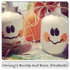 Painted wine jugs