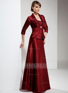Mother of the Bride Dresses - $128.99 - A-Line/Princess Sweetheart Floor-Length Taffeta Mother of the Bride Dress With Ruffle Lace Beading (008006039) http://jjshouse.com/A-Line-Princess-Sweetheart-Floor-Length-Taffeta-Mother-Of-The-Bride-Dress-With-Ruffle-Lace-Beading-008006039-g6039?ver=1