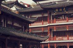 Shanghai Old Town http://whizzingabout.co.uk/blogs/blog/18518916-xian-shanghai  #travelblog #backpacking #shanghai #china #architecture #chinesebuilding