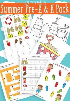 Imprimibles de verano para Preescolar - Free Summer Printables for-Preschool and Kindergarten
