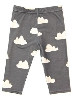 Salt City Emporium rain cloud print children leggings, modern organic, baby leggings, hipster kid, boy clothing, gender neutral. $32.00, via Etsy.