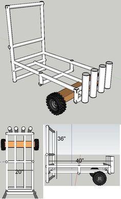 Homemade Fishing Cart Design | This PVC homemade fishing ...