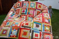 The Quilter in Wonderland Block pattern is one of the most whimsical bed quilt patterns around.