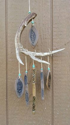 Garden Windchime, Deer Antler Windchime, Garden Art, Ceramic Windchime
