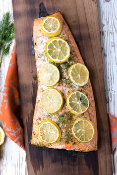 Charred Cedar Plank Salmon with Lemon and Dill - BoulderLocavore