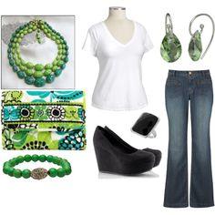 green with envy #plus size fashion