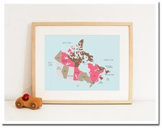 Would like to find a cool map of Canada to frame.