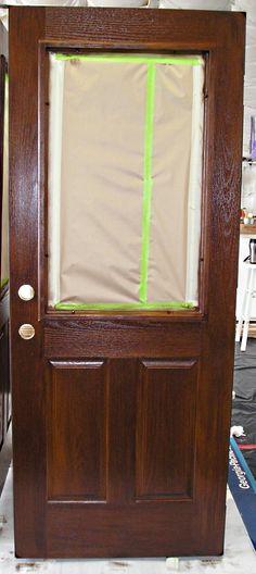 Using Gel Stain On A Fiberglass Door Garage Door Too Gelstain