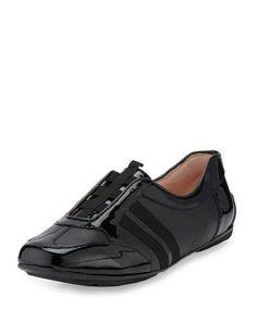 X3B51 Taryn Rose Caya Patent Slip-On Sneaker, Black
