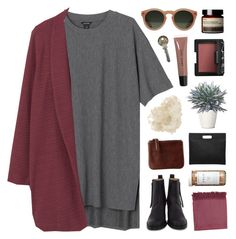 """""""you were the angel I chained to the ground"""" by ruthaudreyk ❤ liked on Polyvore featuring Monki, Violeta by Mango, Acne Studios, Med Winds, Surya, CB2, McCoy Design, GANT, Aesop and NARS Cosmetics"""