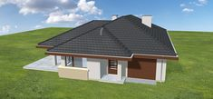 Projekt Dom na miarę 102,15 m2 - koszt budowy 208 tys. zł - EXTRADOM House Plans, Sweet Home, Shed, Outdoor Structures, House Design, House, House Beautiful, House Floor Plans, Architecture Design