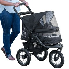Our new NV Pet stroller was created by combining all of the best features from our other great strollers. The end result? A top-of-the-line pet stroller that everyone will envy. No zippers means no hassle when trying to open and close the stroller.