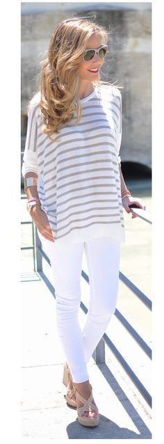 flavia schwab: Calça skinny na versão branca!