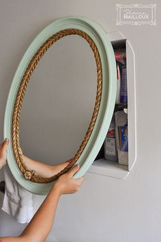 Inexpensive Makeovers for the Bathroom Mirror & Light Fixture   Beautiful Matters