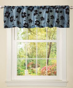 Take a look at this Blue & Brown Garden Blossom Valance by Lush Décor on #zulily today!