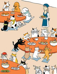 Working at my Diner for Pets would be awfully loud and hectic, but fun...