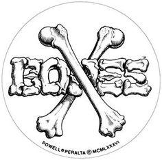 Crossbones Sticker - Powell Peralta