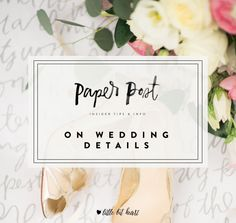 On wedding details- advice for brides and grooms