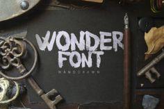 http://A handbrushed font.