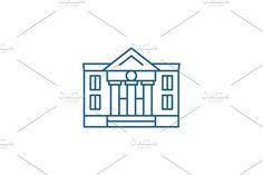 Vector Website, Building Icon, Property Design, Line Icon, Company Logo, Illustration, Illustrations