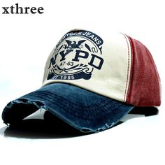 xthree baseball cap fitted hat Casual cap for men women unisex fae48d362f10