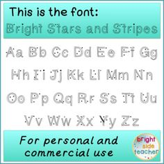 Try out my Stars and Stripes font for free. Great for patriotic holidays such as: the Fourth of July, Memorial Day, President's Day, and Constitution Day. A great pop for any US history or civics presentations. Includes: True Type Font Terms of Use Credit Image (appreciated but not necessary) Font Image (to see the sample)